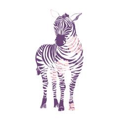 Logo with the head of a zebra flat zebra portrait vector