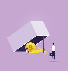 Money trap concept-financial risk metaphor vector