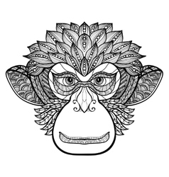 Monkey Doodle Face vector image