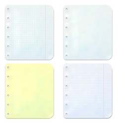 notebook sheets vector image