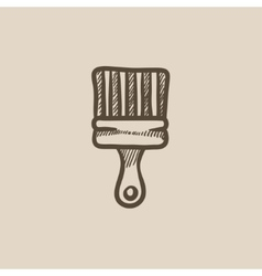 Paintbrush sketch icon vector image