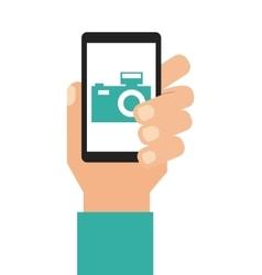 Photography application icon vector