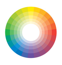 Polychrome multicolor spectral rainbow circle 24 vector