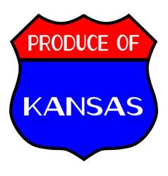 Produce of kansas vector