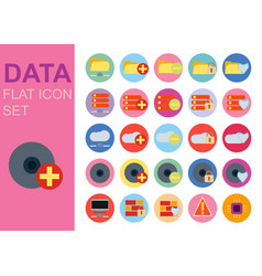 protect data universal flat technology icons set vector image