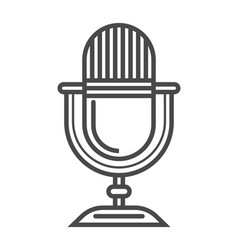 radio microphone linear icon vector image