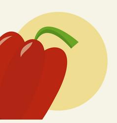 Red pepper cartoon vector