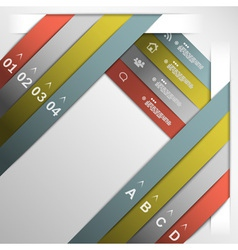 Ribbon option template vector image