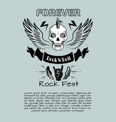Rock n roll fest forever vector