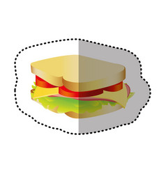 Sandwich fast food icon vector