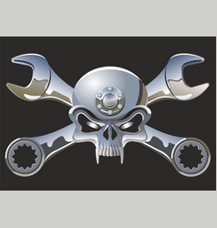 Scull and wrenches vector