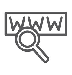 search line icon internet and network lens sign vector image