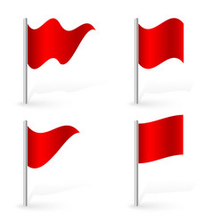 set of red flags different effects 2 kind of vector image