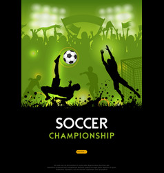 soccer championship poster vector image