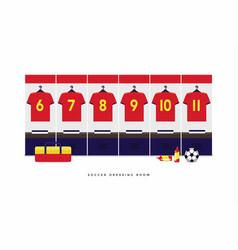 spain football or soccer team dressing room vector image