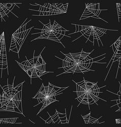 Spiderweb pattern seamless spider web halloween vector