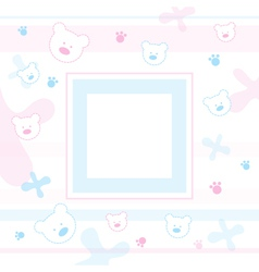 Teddy bears Frame vector image