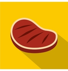 Tenderloin beef steak icon flat style vector