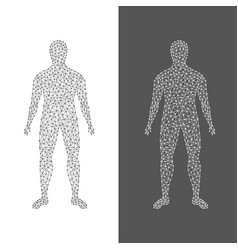 the digital man abstract of human body on white vector image