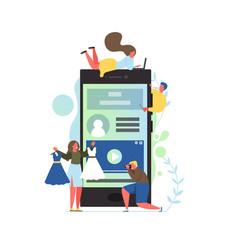 video blog flat style design vector image