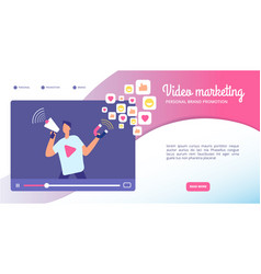 video marketing concept online advertising vector image