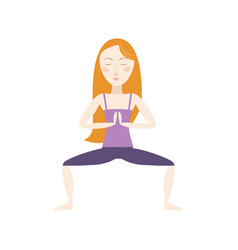 woman doing yoga cartoon vector image