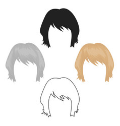 Woman s hairstyle icon in cartoonblack style vector