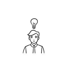 young leader hand drawn sketch icon vector image