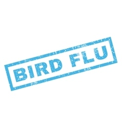 Bird flu rubber stamp vector
