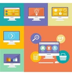 Electronic Device Flat Icons vector image vector image
