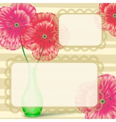 Love letter frame with flowers vector image