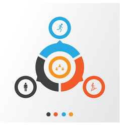 people icons set collection of network ladder vector image