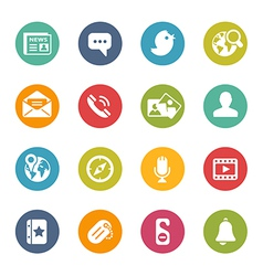 Social-Media-Icons Fresh-Colors-Series vector image vector image