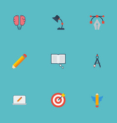 flat icons science arrow wings and other vector image