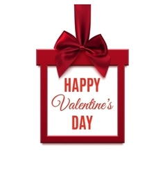 Happy Valentines Day red square banner in form vector image