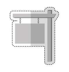 real estate label wood vector image