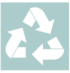 recycling arrows in a circle the white color icon vector image vector image