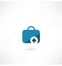 suitcase with cross icon vector image vector image