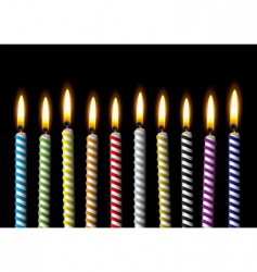birthday candle vector image vector image