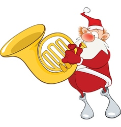 Cute Santa Claus Sousaphone vector image vector image