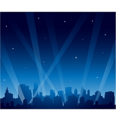 Party city at night vector image vector image