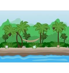 Seamless cartoon nature landscape unending vector image