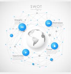 swot - strengths weaknesses opportunities threats vector image