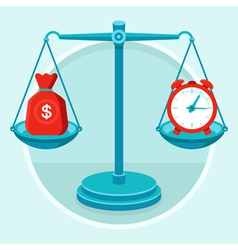 time money concept vector image
