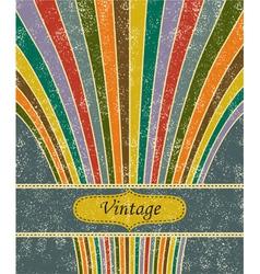 Vintage salute grunge background vector image