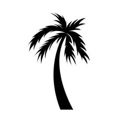 black icon palm cartoon vector image vector image