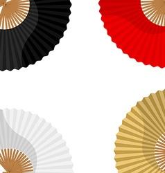 Folding hand fan vector image