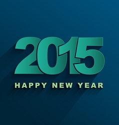 Happy new year 2015 Text Design vector image vector image