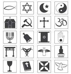 Religious Icons Collection vector image vector image