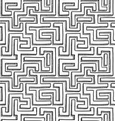 Seamless maze pattern vector